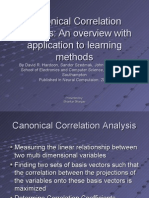 Canonical Correlation Analysis