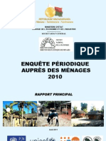 Enquête périodique auprès des ménages 2010 - Rapport principal (INSTAT - 2011)