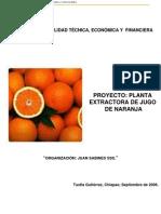 Estudio e ad de Jugo de Naranja