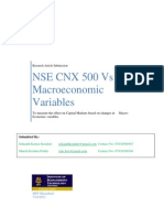 NSE Correlation with Macro Economic Variables