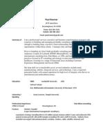 Paul Roemer's CV