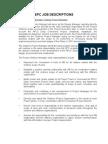 EPC Job Descriptions