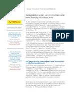 Case Study – Konsumenten geben persönliche Daten erst beim Buchungsabschluss preis