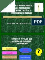 Diapositiva Grado de Abogado