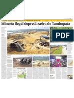 Minería ilegal depreda selva de Tambopata