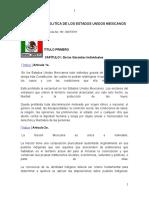 CONSTITUCIÓN POLITÍCA DE LOS ESTADOS UNIDOS MEXICANOS I
