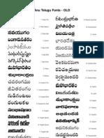 ANU Telugu New Fonts