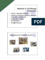Methods in Cell Biology Proteomics _ Hong Ki Et Al Lecture