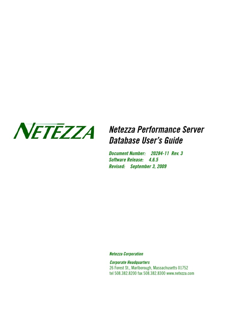 4 6 5 netezza database users guide copyright information rh scribd com netezza database user's guide.pdf download netezza db user guide