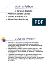 Introducción a Python Presentacion