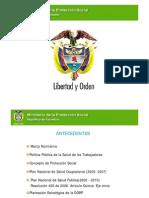 Propuesta Plan Nacional de Salud Ocupacional