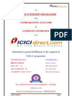 Summer internship project of Icicidirect.com on comparative analysis