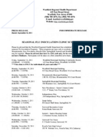 Flu Clinic Schedule (2011)