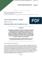 Aceite y Filtro Demotor Cambiar
