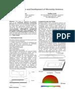Analysis Design and Development of Micro Strip Antenna