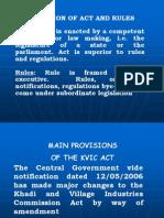 Main Pro. of KVIC Act, Rules & Regulations
