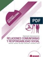 Tríptico Diplomado Internacional en Relaciones Comuntarias y Responsabilidad Social