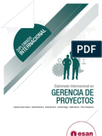 Tríptico Diplomado Internacional en Gerencia de Proyectos