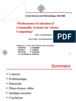 Performance Evaluation of Commodity Systems for Cluster Computing -- presentation