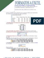 Aplicar Formatos a Excel