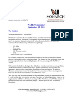 The Monarch Report 9-12-11
