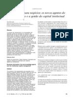 ESTUDO DE CASO CAPITAL INTELECTUAL  - Informação para negócios os novos agentes do conhecimento e a gestão