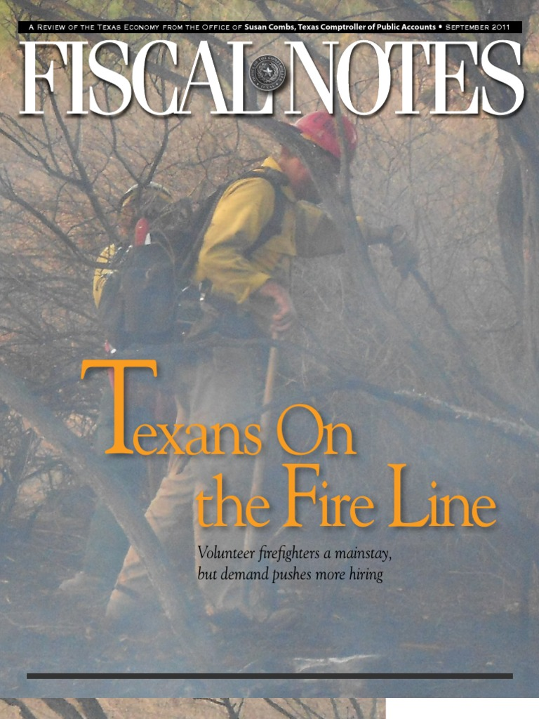 In Texas Volunteer Firefighters A Mainstay Firefighter