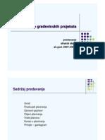 Planiranje gradjevinskih projekata