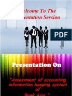 Assessment of accounting information keeping system of  Bank Asia by Simon (BUBT)