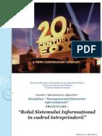Rolul Sistemului Informational