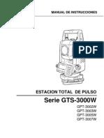 Manual GTS-3000w Español