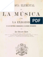 Alzedo, José Bdo. - Filosofía Elemental de La Música