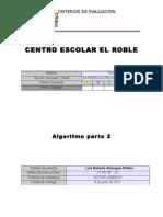 Algoritmo parte 2