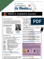 First Six Weeks (Week 3 - Academic Success)