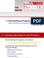 Estudio Benchmarking Proyectos en Venezuela
