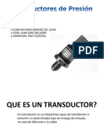 TRANSDUCTORES DE PRESION