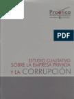 Estudio Cualitativo sobre la Empresa Privada y la Corrupción