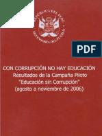 Con Corrupción no hay Educación