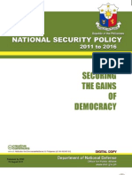 DND-OPA - National Security Policy of 2011 to 2016 - 1 September 2011