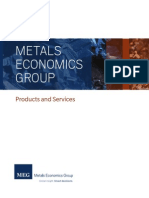 Metals Economics Group database and services catalogue