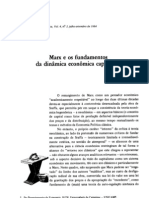 Marx e Os Fundamentos Da Dinamica Economica Capitalist A - REP1984