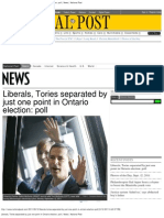 John Wright Liberals, Tories Separated by Just One Point in Ontario Election_ Poll _ New