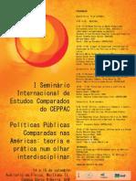 CARTAZ I SEMINÁRIO INTERNACIONAL CEPPAC