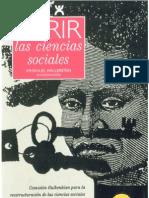 Wallerstein Abrir La Ciencias Sociales 1996 CAP 1-R