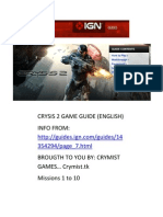 Crysis 2 Guide Missions 1 to 10