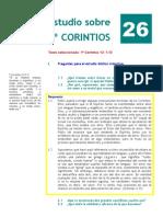 1º Corintios. Estudio 26