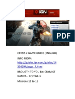 Crysis 2 Guide Missions 11 to 19
