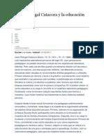José Portugal Catacora y la educación peruana
