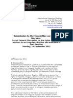 IDC Submission to the Committee on Migrant Workers Sept 2011