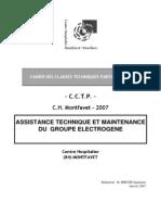 Maintenance Groupe Electrogene Cctp Chmontfavet